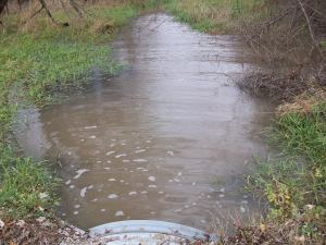 Runoff Heading to Lake MacBride