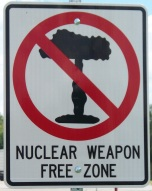 Iowa City Nuclear Free Sign
