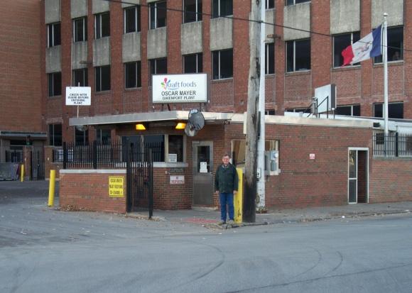 Author at Kraft Foods Oscar Mayer plant on Second Street in Davenport, Iowa Nov. 25, 2011