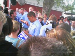 Obama at the 2006 Harkin Steak Fry