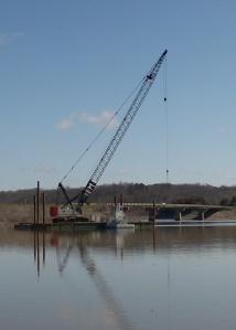 Crane at Mehaffey Bridge