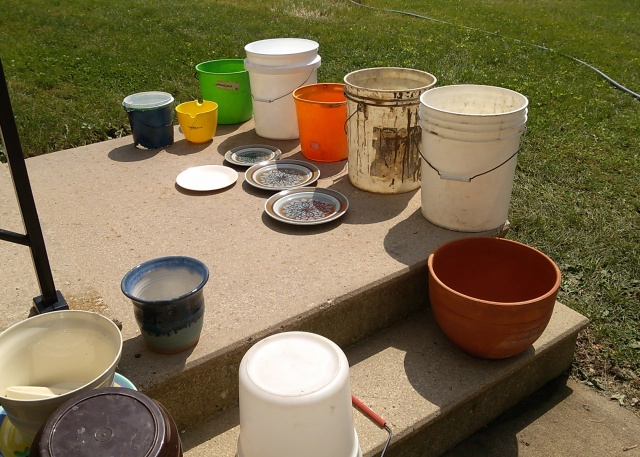 Buckets, Plates and Flower Pots