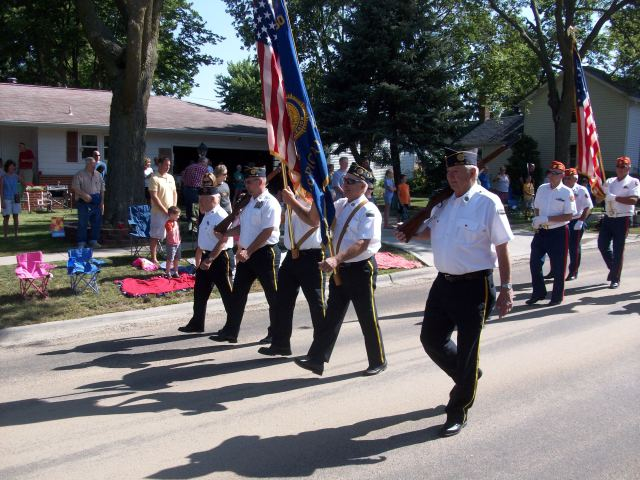 The Legion Color Guard always goes first.