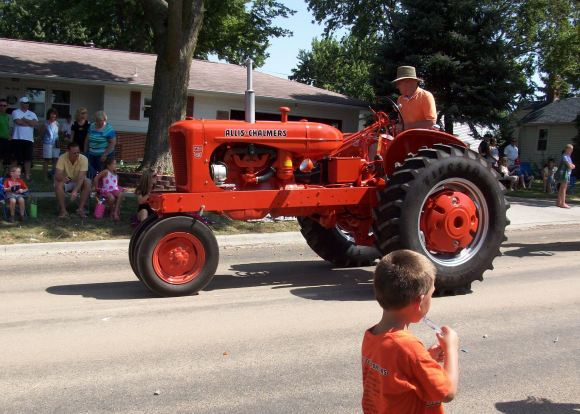 Did I mention the orange tractor?