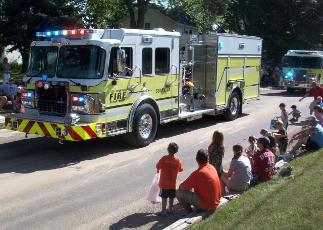 Followed by Our Fire Trucks.