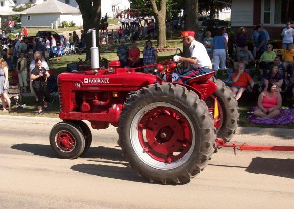 red tractors...
