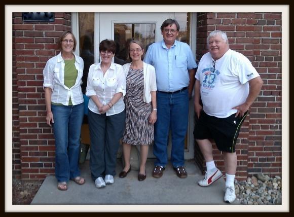 Blog for Iowa: Trish Nelson, Caroline Vernon, Dr. Alta Price, Paul Deaton, Dave Bradley. Photo by Dan DeShane