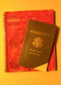 Passport and Notebook