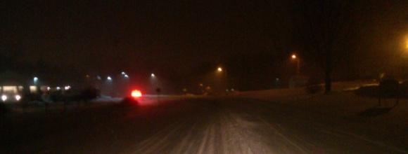 Solon During a Snowstorm