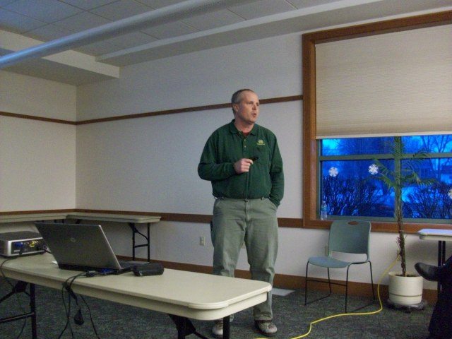 Iowa DNR Forester Mark Vitosh Discussing Preservation of Oak Forests