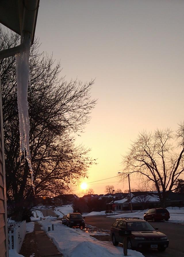Icicle Sunrise in Solon