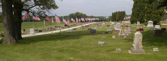 Flags at Oakland Cemetery