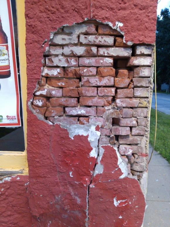 Deteriorating Building Front