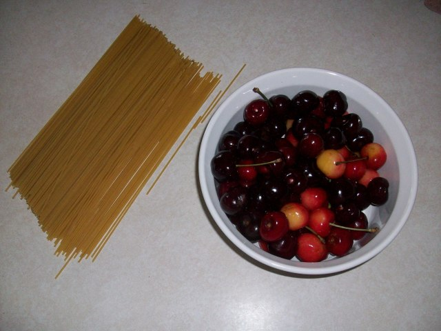 Pasta and Cherries
