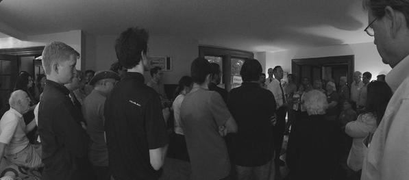 Listening to Martin O'Malley in Mount Vernon