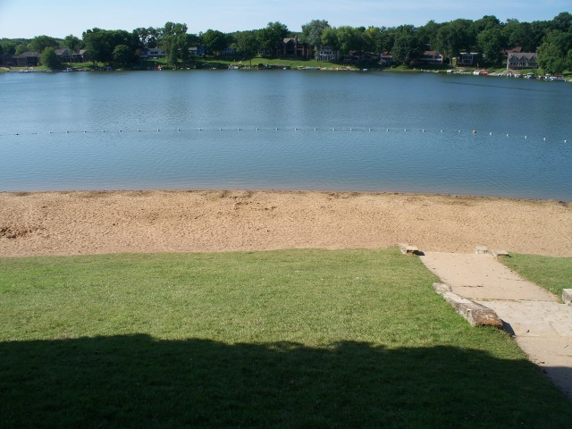 Cottage Reserve from Lake Macbride Beach July 14