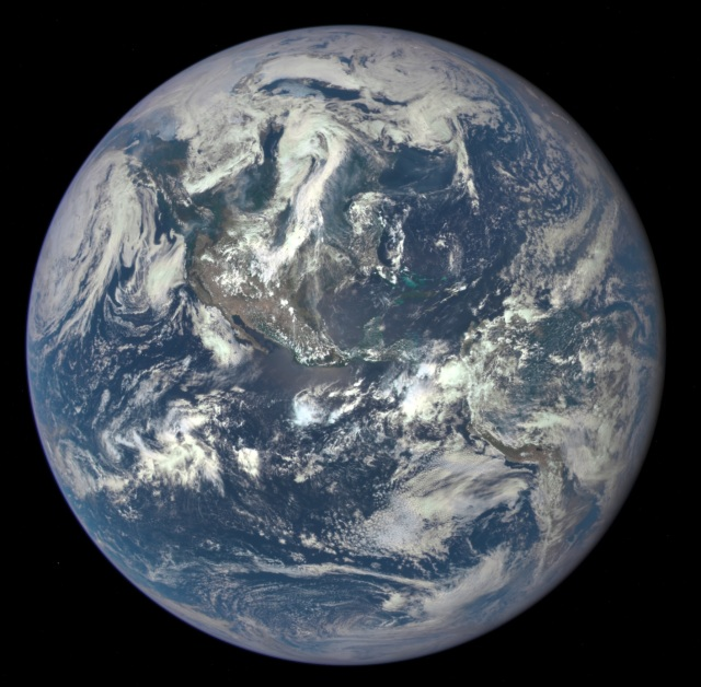 Image of Earth 7-6-15 from DSCOVR (Deep Space Climate Observatory)