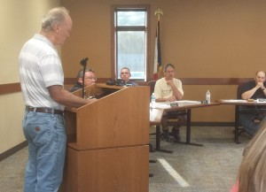 Peter Fisher of Cedar Township Addressing the Solon City Council