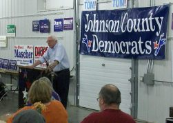 Bernie Sanders at the 2014 Johnson County Democrats BBQ