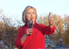 Hillary Clinton in Coralville, Iowa, Nov. 3