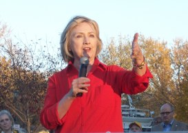 Hillery Clinton in Coralville, Iowa, Nov. 3