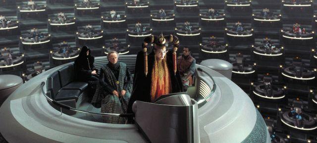 Queen Amidala Addresses Galactic Senat Photo Credit StarWars.com