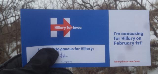 Hillary Caucus Card