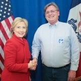 With Hillary Clinton Jan. 24, 2016