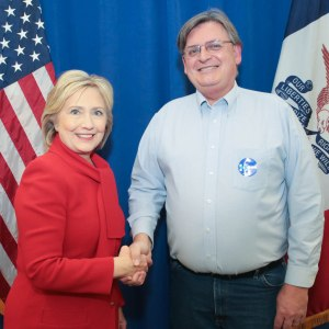 With Hillary Clinton Jan. 24, 2016