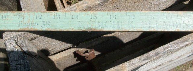 Kubichek Plumbing Yard Stick