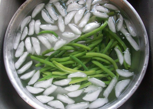 Shocking Green Beans After Parboiling
