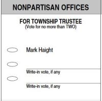 Big Grove Township Trustee Ballot