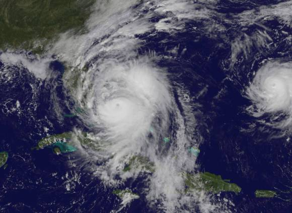 Hurricane Matthew Oct. 6, 2016 Photo Credit - NASA/NOAA GOES Project