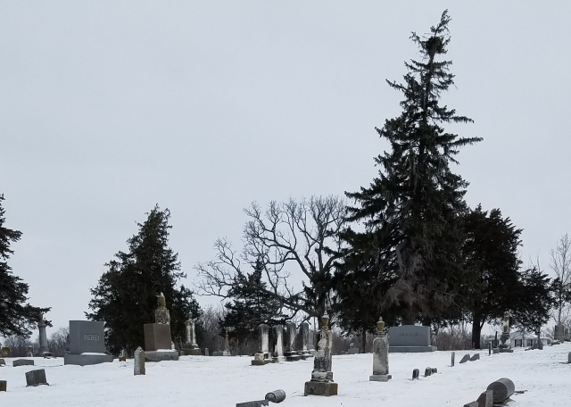 Oakland Cemetery, Big Grove Township, Johnson County, Iowa. Dec. 17, 2016
